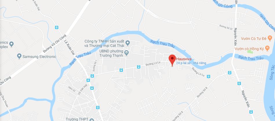 vị trí dự án căn hộ Hausviva Quận 9