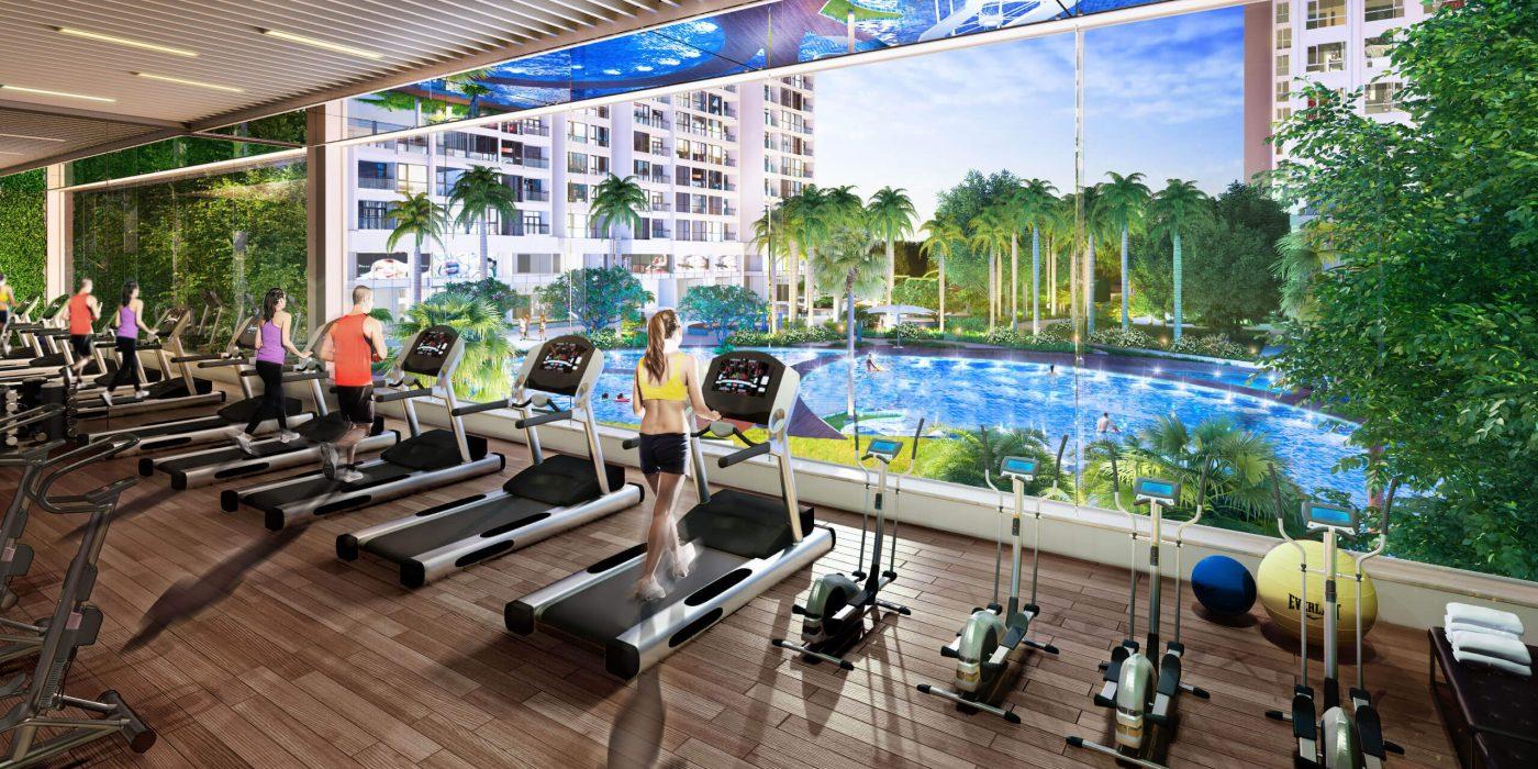 Phòng Gym cao cấp dự án Q7 Boulevard