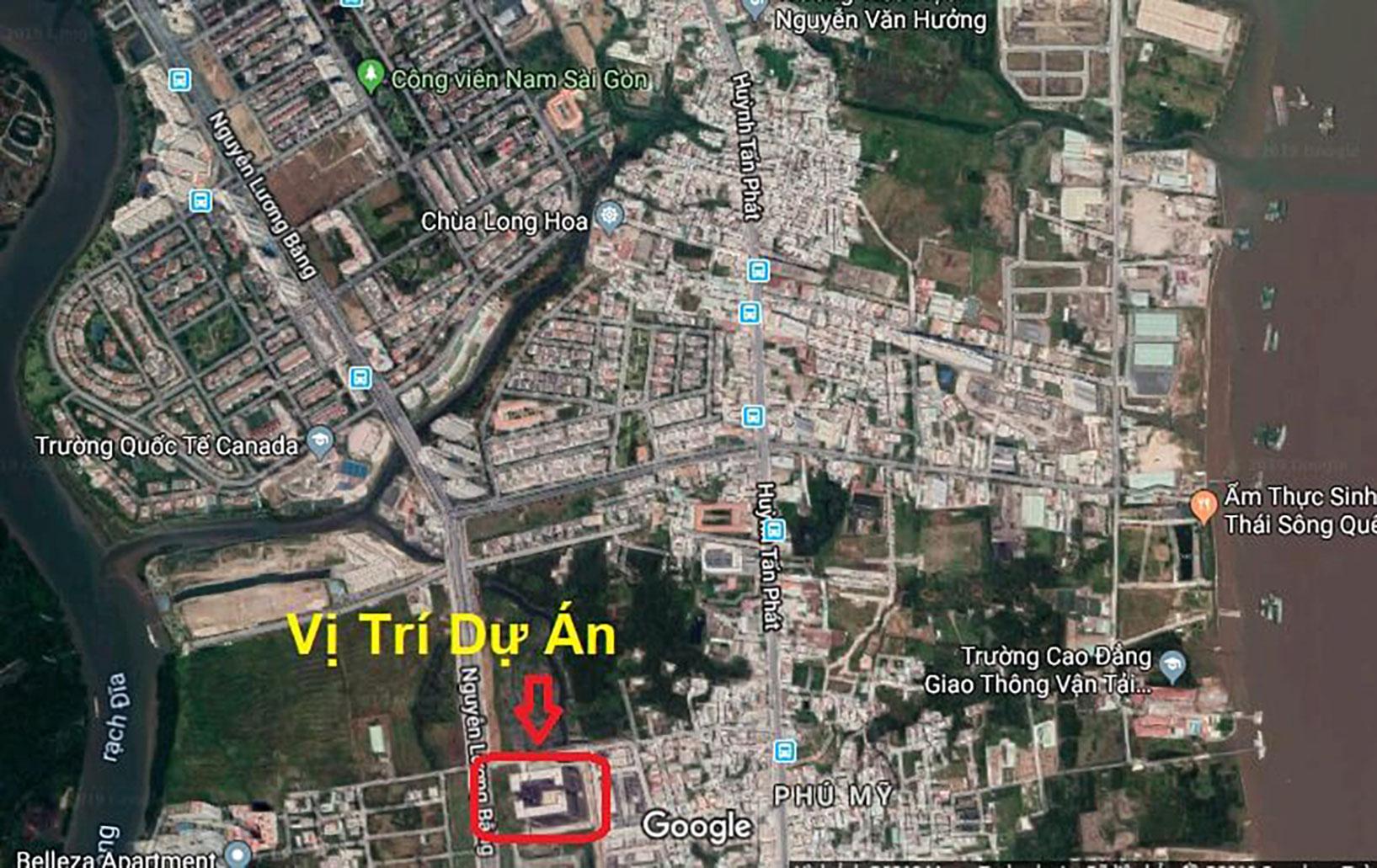 Vị trí dự án Q7 Boulevard Hưng Thịnh