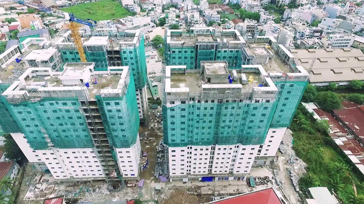 Tiến độ căn hộ Q7 Boulevard Hưng Thịnh
